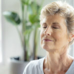 Woman with pain relief